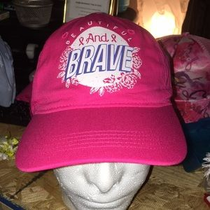 Accessories - Pink beautiful & brave breast cancer cap